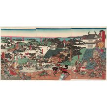 Utagawa Yoshitora: The Great Battle of Takadachi in Ôshû Province (Ôshû Takadachi ôgassen) - Museum of Fine Arts