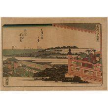 Utagawa Yoshitora: View of Zôjô-ji Temple in Shiba (Shiba Zôjô-ji no kei), from the series newly Selected Famous Places in Edo (Shinsen Edo meisho) - Museum of Fine Arts