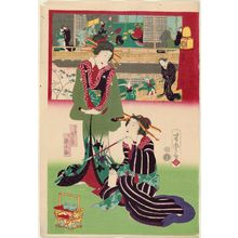 歌川芳虎: The Hour of the Boar (I no koku), from the series The Twelve Hours in the Modern World (Tôsei jûni-doki no uchi) - ボストン美術館