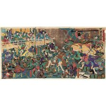 Utagawa Yoshitora: The Great Battle of the Night Attack at Horikawa (Horikawa youchi ôgassen) - Museum of Fine Arts