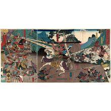 歌川芳虎: Taiheiki Ashikaga Takauji... - ボストン美術館
