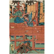 Utagawa Yoshitora: The Night Attack at Horikawa (Horikawa youchi no zu) - Museum of Fine Arts