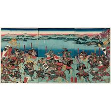 Utagawa Yoshitora: The Battle of Seta in Ômi Province (Gôshû Seta no kassen) - Museum of Fine Arts