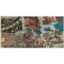 歌川芳虎: The Conquest of Korea (Sankan seibatsu no zu) - ボストン美術館