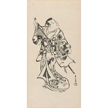 鳥居清倍: Actor Takii Hannosuke as a samurai - ボストン美術館