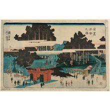 Utagawa Kuniyoshi: Fudô Temple at Meguro (Meguro Fudô no zu) - Museum of Fine Arts