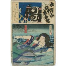 Toyohara Kunichika: Actor as Koman, from the series Matches for the Kana Syllables (Mitate iroha awase) - Museum of Fine Arts