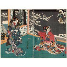 Utagawa Kunisada: Plum Blossoms in Snow - Museum of Fine Arts