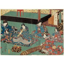 歌川国貞: Koto (Kin), from the series The Four Accomplishments (Kinkishoga no uchi) - ボストン美術館