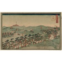 Utagawa Sadahide: Oshu, Karita, Shiraishi; Series: Dai Nihon Kokugun Meisho (Famous Views of the Provinces and Districts of Japan) - Museum of Fine Arts
