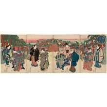 Ryûsai Shigeharu: Spring Dawn, a Shrine Visit on the Day of the Hare (Unohi môde haru no akebono) - ボストン美術館