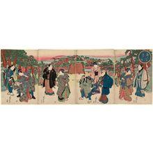 Ryûsai Shigeharu: Spring Dawn, a Shrine Visit on the Day of the Hare (Unohi môde haru no akebono) - ボストン美術館