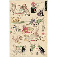 歌川芳員: Comical Pictures (Dôke kyôga) - ボストン美術館