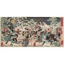 Utagawa Yoshitsuya: The Night Attack of the Faithful Samurai (Gishi youchi zu) - Museum of Fine Arts