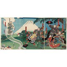 Utagawa Yoshitsuya: (Yorimitsu... Ashigarayama ni Kintoki o eru) - Museum of Fine Arts
