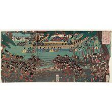 Utagawa Yoshitsuya: Udaishô Yoritomo kô Ichinotani... - Museum of Fine Arts