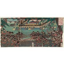 歌川芳艶: Udaishô Yoritomo kô Ichinotani... - ボストン美術館