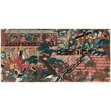 歌川芳艶: The Great Battle at Horikawa (Horikawa ôgassen zu) - ボストン美術館