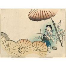 Shibata Zeshin: Woman Waterproofing Umbrellas - Museum of Fine Arts