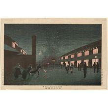 Inoue Yasuji: Scene of Cherry Blossoms at Night in the New Yoshiwara (Shin Yoshiwara yozakura kei) - Museum of Fine Arts