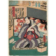 Utagawa Kunisada: Actor Arashi Kichisaburô III as Sagamiya Teishu - Museum of Fine Arts