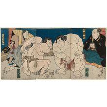 Utagawa Kunisada: Sumô Wrestlers - Museum of Fine Arts