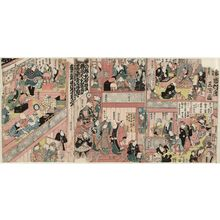 Utagawa Kunisada: The Third Floor of the Ichimura Theater (Ichimura-za sankai no zu) - Museum of Fine Arts