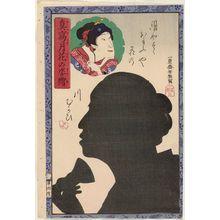 落合芳幾: from the series Portraits as True Likenesses in the Moonlight (Makoto no tsukihana no sugata-e) - ボストン美術館