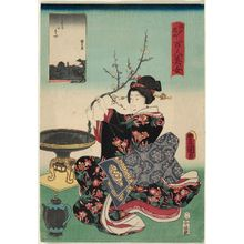 歌川国貞: Surugadai, from the series One Hundred Beautiful Women at Famous Places in Edo (Edo meisho hyakunin bijo) - ボストン美術館