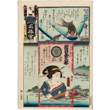 Utagawa Kunisada: Shinobazu, from the series Flowers of Edo and Views of Famous Places (Edo no hana meishô-e) - Museum of Fine Arts