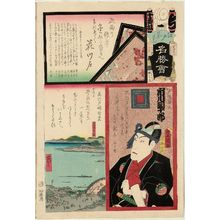 歌川国貞: Hanakawado, from the series Flowers of Edo and Views of Famous Places (Edo no hana meishô-e) - ボストン美術館