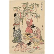 鳥居清長: The Tanabata Festival, from the series Precious Children's Games of the Five Festivals (Kodakara gosetsu asobi) - ボストン美術館