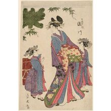 一楽亭栄水: Takigawa (representing the god Jurôjin), from the series Seven Lucky Gods (Shichifukujin tsuzuki) - ボストン美術館