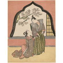 鈴木春信: Young Couple by an Arched Window - ボストン美術館