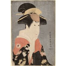 Toshusai Sharaku: Actor Segawa Tomisaburô II as Yadorigi, Wife of Ôgishi Kurando - Museum of Fine Arts