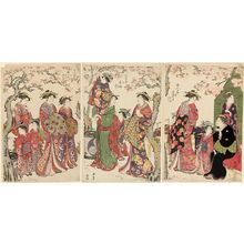 Torii Kiyonaga: Courtesans Viewing Cherry Blossoms - Museum of Fine Arts