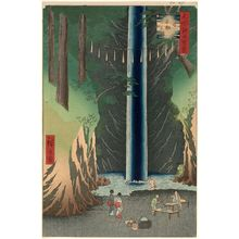 Utagawa Hiroshige: Fudô Falls, Ôji (Ôji Fudô no taki), from the series One Hundred Famous Views of Edo (Meisho Edo hyakkei) - Museum of Fine Arts