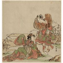 Katsukawa Shunsho: Actors Arashi Sangorô II and Segawa Kikunojô III as Mandarin Ducks - Museum of Fine Arts