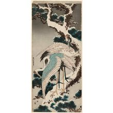 Katsushika Hokusai: Cranes on a Snow-covered Pine Tree - Museum of Fine Arts