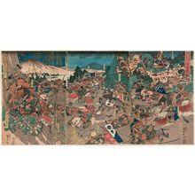 歌川国芳: The Great Battle between Nitta Yoshisada and Ashikaga Takauji (Nitta Yoshisada Ashikaga Takauji ôgassen) - ボストン美術館