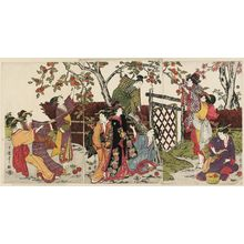 Kitagawa Utamaro: Picking Persimmons (Kaki-mogi) - Museum of Fine Arts