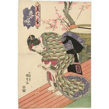 Utagawa Kunisada: Woman Playing with Cat, from the series Spring Dawn: A Contest of Beauties (Haru no akebono, bijin awase) - Museum of Fine Arts