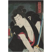 Utagawa Kunisada: Gojusain tsugi no uchi, Shono: Actor Ichikawa Ichizô III as Shirai Gonpachi - Museum of Fine Arts
