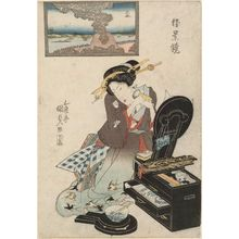 歌川国貞: Mimeguri, from the series Mirror of Fine Views (Shôkei kagami) - ボストン美術館