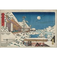 Utagawa Sadahide: Act XI (Jûichidanme), from the series The Storehouse of Loyal Retainers, a Primer (Kanadehon Chûshingura) - Museum of Fine Arts