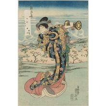 Ryûsai Shigeharu: Actor Onoe Kikugoro as Shizuka Gozen] - Museum of Fine Arts