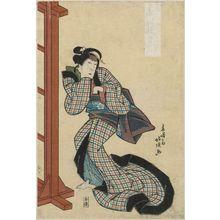 Shunshosai Hokuchô: Actor Nakamura Utaemon as Orie - ボストン美術館