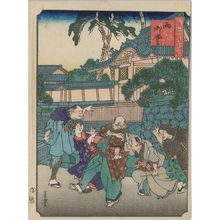 歌川芳豊: Nishimidô, from the series Comical Views of Famous Places in Osaka (Kokkei Naniwa meisho) - ボストン美術館