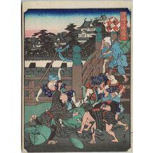 Nakajima Yoshiume: Kyô-bashi Bridge, from the series Comical Views of Famous Places in Osaka (Kokkei Naniwa meisho) - Museum of Fine Arts