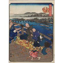 Nakajima Yoshiume: Tenjin-bashi, from the series Comical Views of Famous Places in Osaka (Kokkei Naniwa meisho) - Museum of Fine Arts